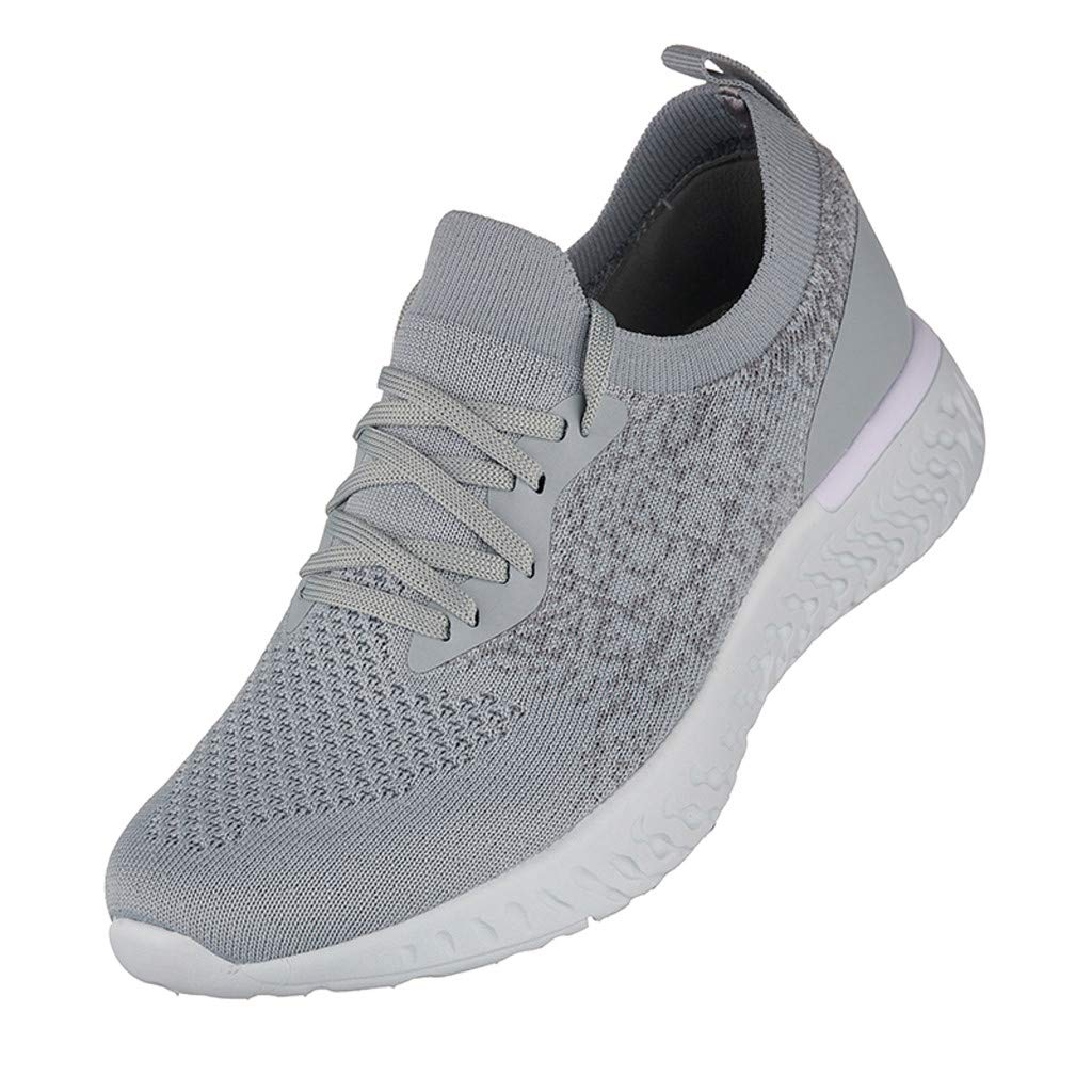 Couple Lightweight Breathable Low-Top Lace Up Sport Running Shoes Casual Unisex Trail Walking Shoes for Boys Girls Ladies Male Female Mosunx Athletic Flat Mesh Sneakers for Women Men