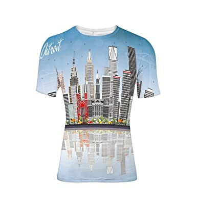 Amazon com: Tee Shirts Tops,Skyscrapers Modern Buildings