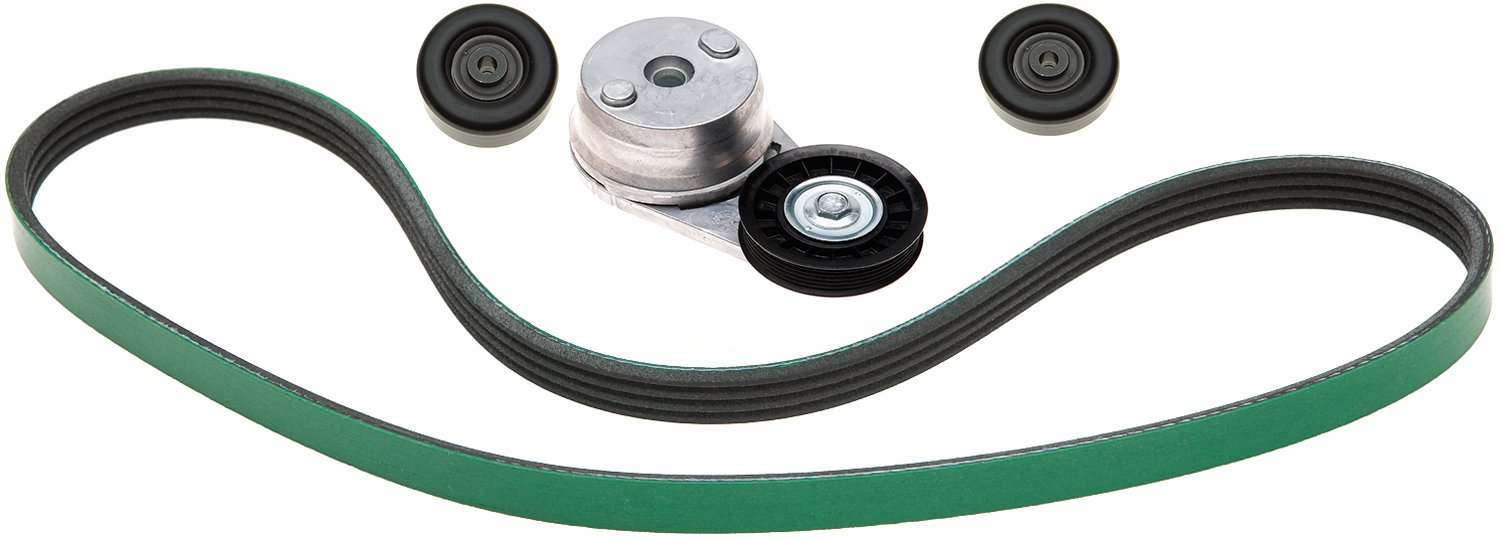 ACDelco ACK061195HD Professional Automatic Belt Tensioner and Pulley Kit with Tensioner, Pulleys, and Belt by ACDelco