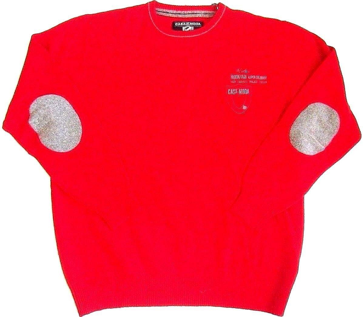 Casa Moda Suéter Sudadera Camisa Jersey De Lana de Cordero Rojo Cuello  Redondo L XXXL (XXL 56)  Amazon.es  Ropa y accesorios aab0149b3bea
