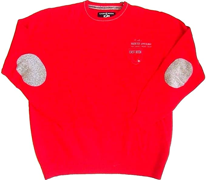 b03247c82cc CASA MODA Pullover Sweater Shirt Jumper Lambswool Round Red 22 L ...