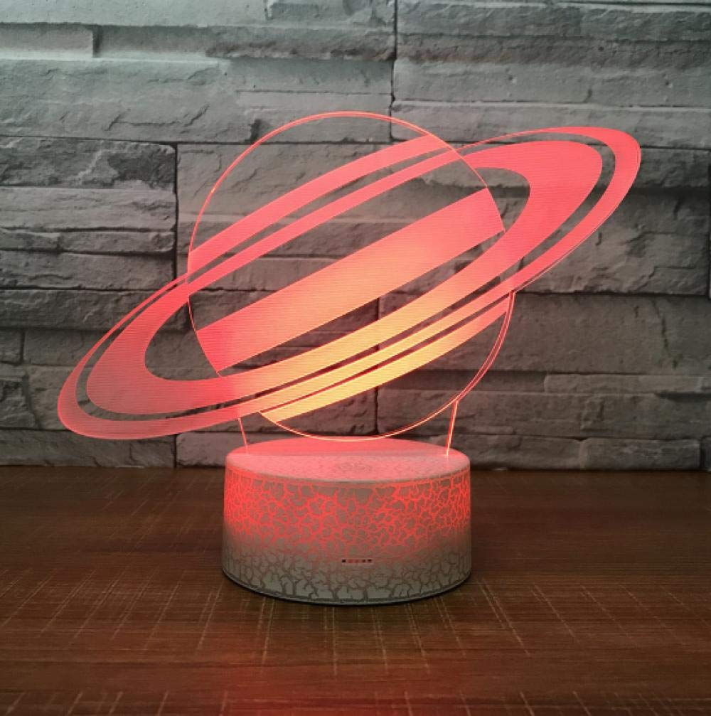 SFALHX 3D LED Night Light Jupiter Lamp Earth Lamp 7 Color Change ...