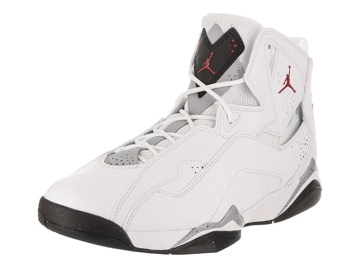 Weiß   Gym rot-schwarz-wolf grau Jordan Nike Men& 039;s True Flight Basketball schuhe