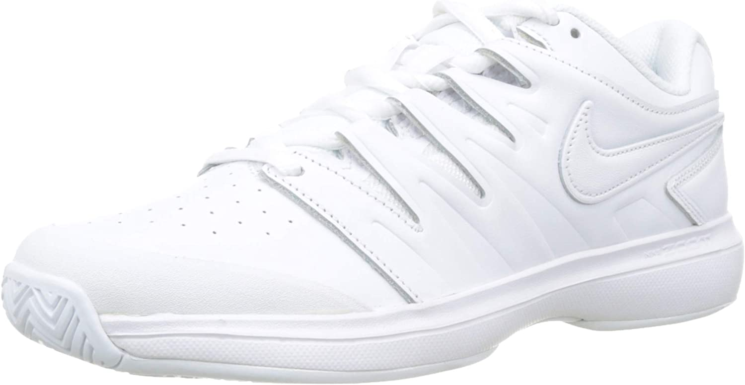 Nike Men's Air Zoom Prestige Tennis Shoes (9.5 D US, Leather - 白い/白い/黒)