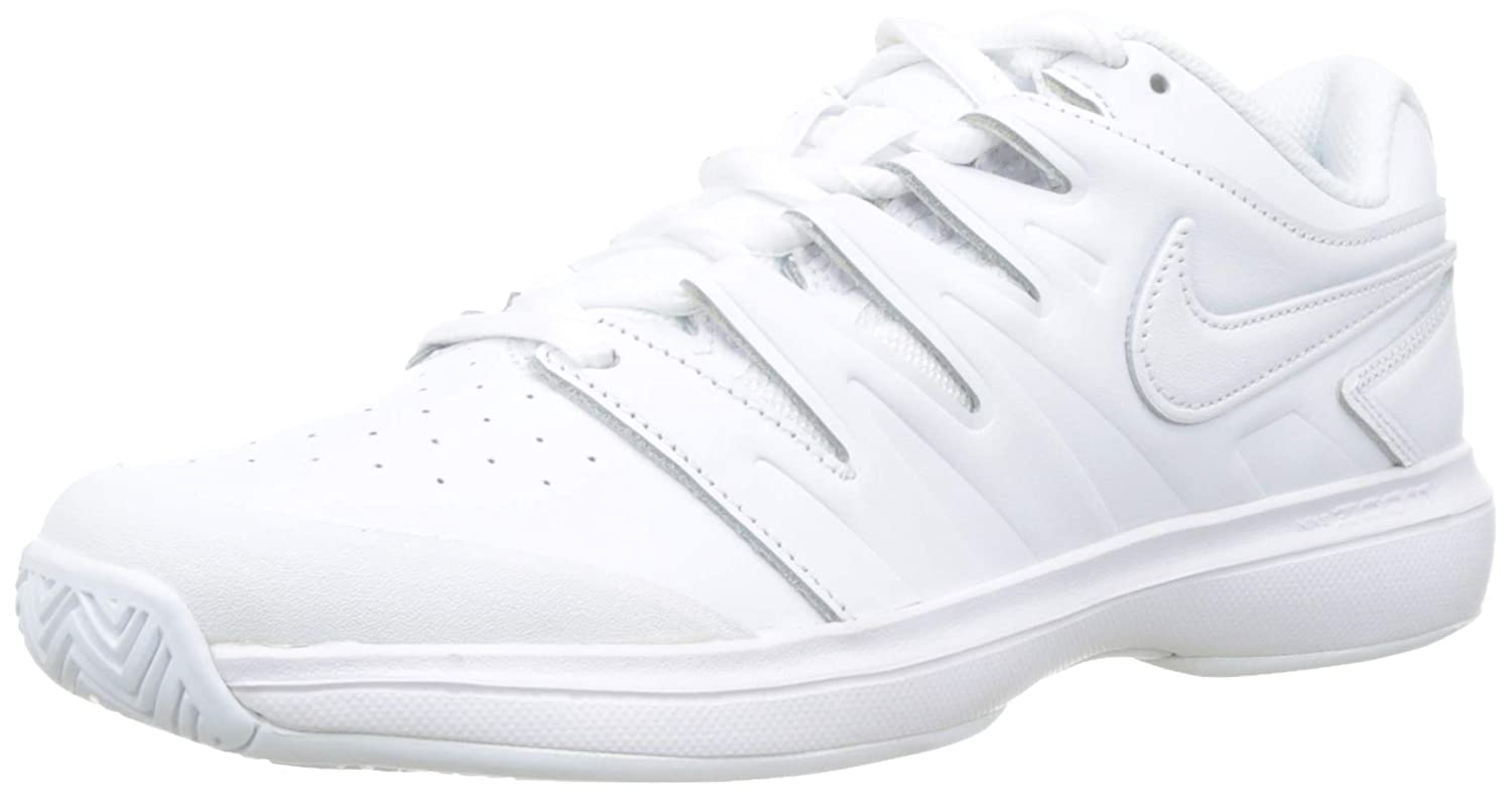 Nike Men's Air Zoom Prestige Tennis Shoes (10 D US, Leather - 白い/白い/黒)