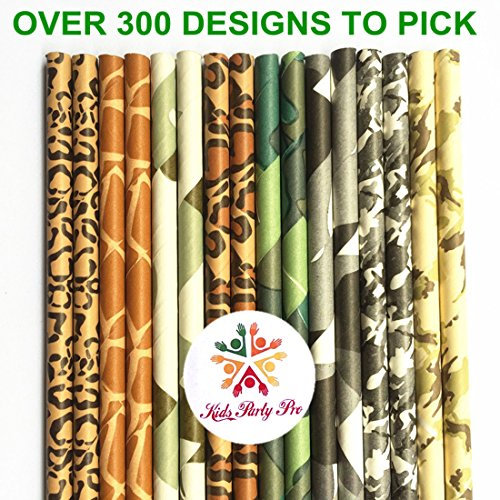 Free DHL Shipping Over 300 Designs to Choose 11000 Paper Straws Wholesale,Striped Polka Dot Chevron Plain Star Heart Damask Floral Animal Print Camouflage Paper Drinking Straws Bulk by Kids Party Pro