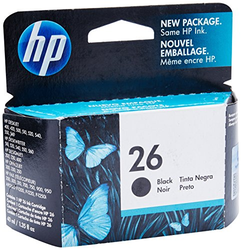 HP 26 Black Original Ink Cartridge (51626A)
