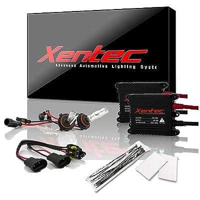 Xentec 9006 (HB4) 12000K HID xenon bulb x 1 pair bundle with 35W Digital Slim Ballast x 2 (Blue Violet): Automotive