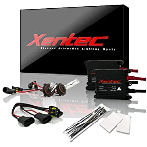 Xentec Xenon bulb 9005 6000K x 1 pair bundle with 2 x 35W Digital Slim Ballast (Ultra White, also fit 9011,9055,9145,HB3,H12)