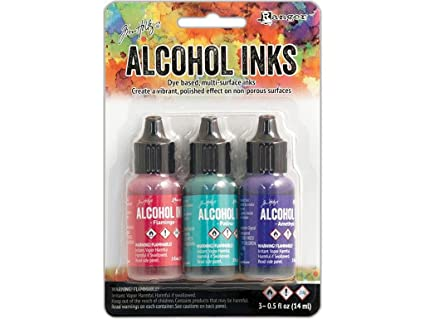 Amazoncom Ranger RGRTAK Beach Deco Tim Holtz Alcohol Ink Set - Coloring resin with alcohol ink