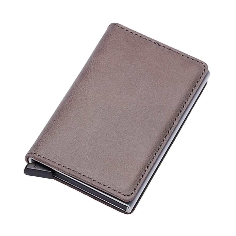 95f420a7c3 Porta Carte di Credito RFID Pop-up Automatico Blocco in Alluminio Attività  Commerciale Mini Portafoglio