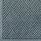 Andersen 221 Waterhog Fashion Diamond Polypropylene Fiber Entrance Indoor Floor Mat, SBR Rubber Backing, 5-Feet Length X 3-Feet Width, 3/8-Inch Thick, Bluestone