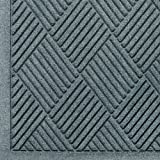 Andersen 221 Waterhog Fashion Diamond Polypropylene Fiber Entrance Indoor Floor Mat, SBR Rubber Backing, 8.4' Length x 4' Width, 1/4'' Thick, Bluestone