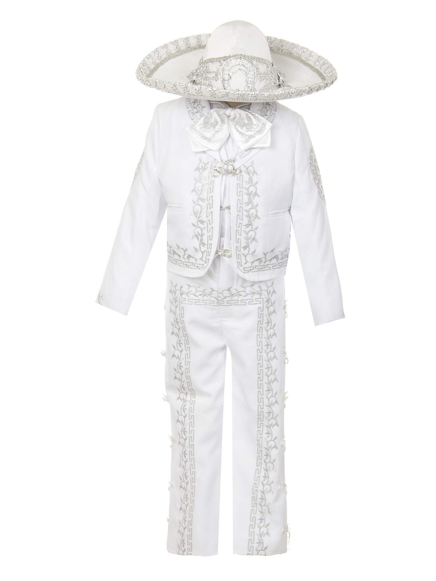 Rain Kids Baby Boys White Rooster Intricate Embroidery 6 Pc Charro Suit 12M by The Rain Kids