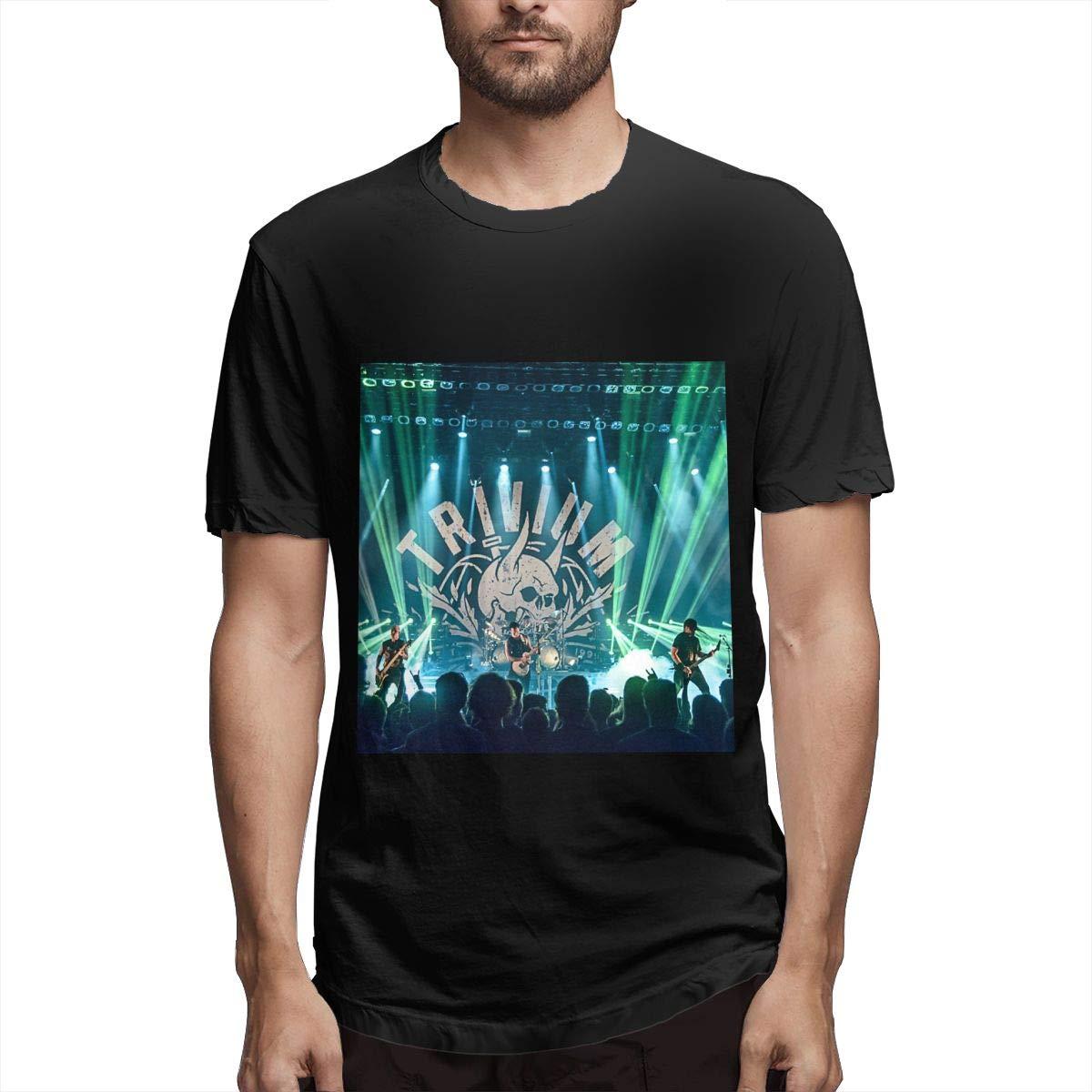 Lihehen Trivium Retro Printing Round Neck Tees Shirts