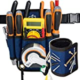 BrunBear Small Tool Belt Pouch With Magnetic Wristband - Tools Holder for electricians