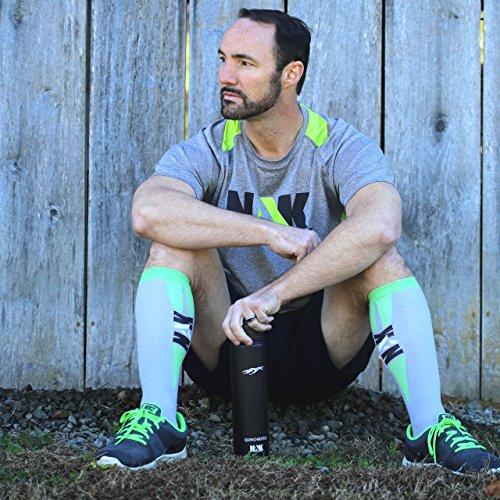 Graduated Compression Socks (Men and Women 1 pair) Best for Running, Nurses, Crossfit