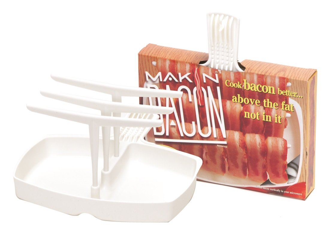 Microwave Bacon Cooker - The Original Makin' Bacon Microwave Bacon Rack - Reduces Fat up to 35% by Camerons Products