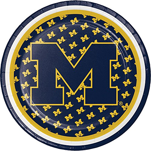 8-Count NCAA Dessert Paper Plates, Michigan Wolverines ()