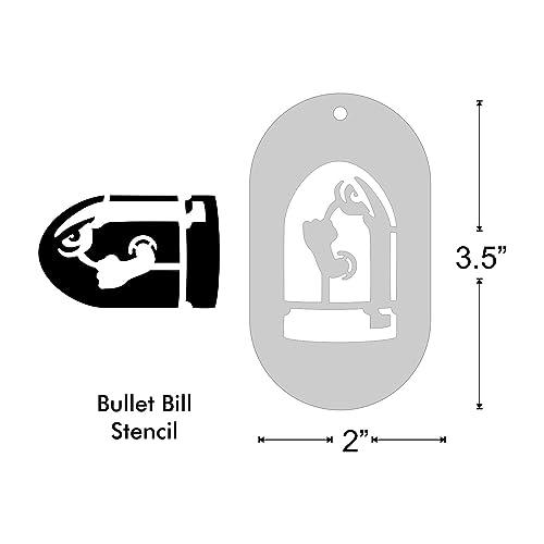 Amazoncom Stencil  Bullet Bill from Super Mario Medium Handmade