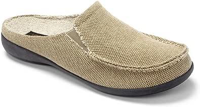 Vionic Taunton Mens Indoor/Outdoor Canvas Slippers