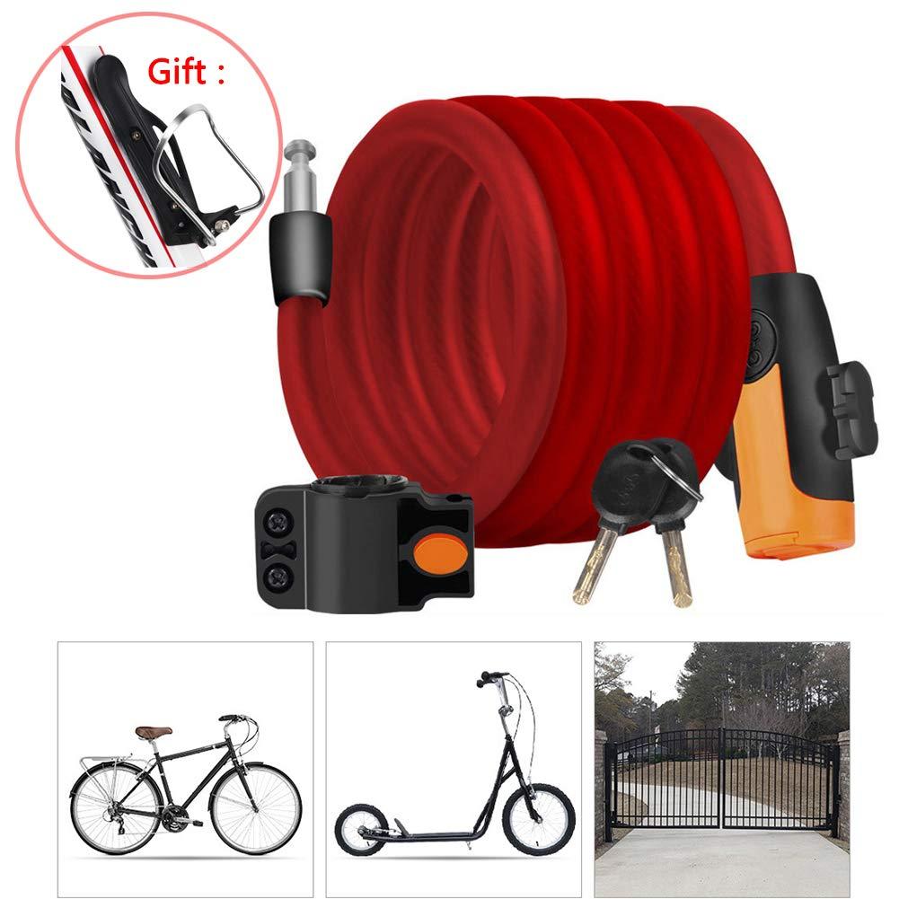 LieYuSport Candado Bicicleta Alta Seguridad,Candado Moto Bici ...