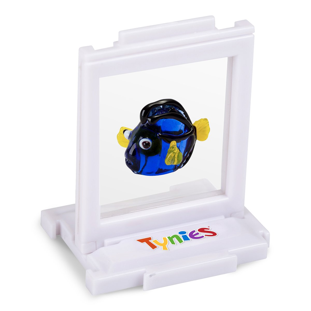 Dark Blue1.9 x 1.6 x 1.2 Tynies Collectibles 168 Dora Blue Hippo Tang Fish Tynies Handmade Glass Figurine with Collectors Frame