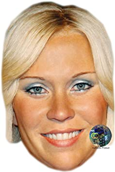 Anni-Frid Lyngstad Card Face and Fancy Dress Mask Celebrity Mask Classic