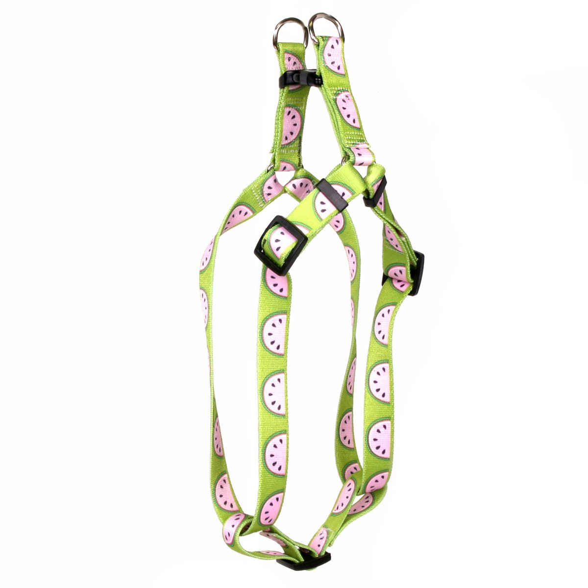 Yellow Dog Design Wonderful Watermelons Step-in Dog Harness-Medium-3/4 and fits Chest 15 to 25''