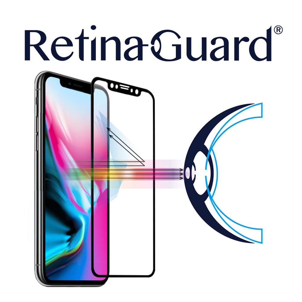 retinaguard Anti luz Cristal Templado Protector de Pantalla para iPhone X - SGS & Intertek Certificado - Bloques excesiva luz Azul, Reducir la Fatiga Ocular ...