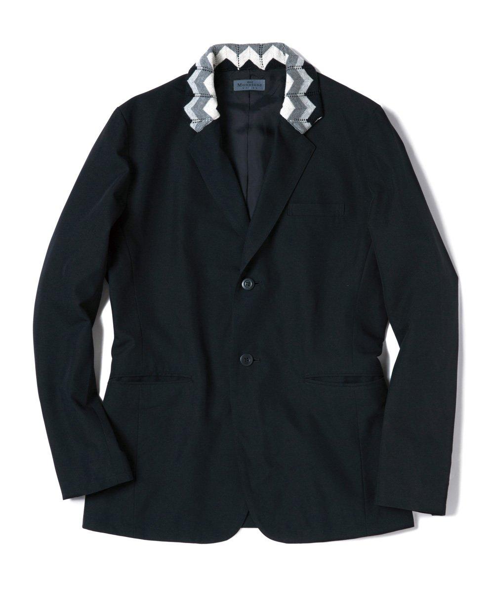 (グラム) glamb Rib tailored JKT GB17SP/MN21 ジャケット テーラードジャケット メンズ コート B0761KF8PS 3|ブラック ブラック 3