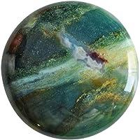 Attraente eliotropio naturale cabochon, forma rotonda, dimensioni 25x 25x 5mm, ciondolo pietra, gioielli ag-11841