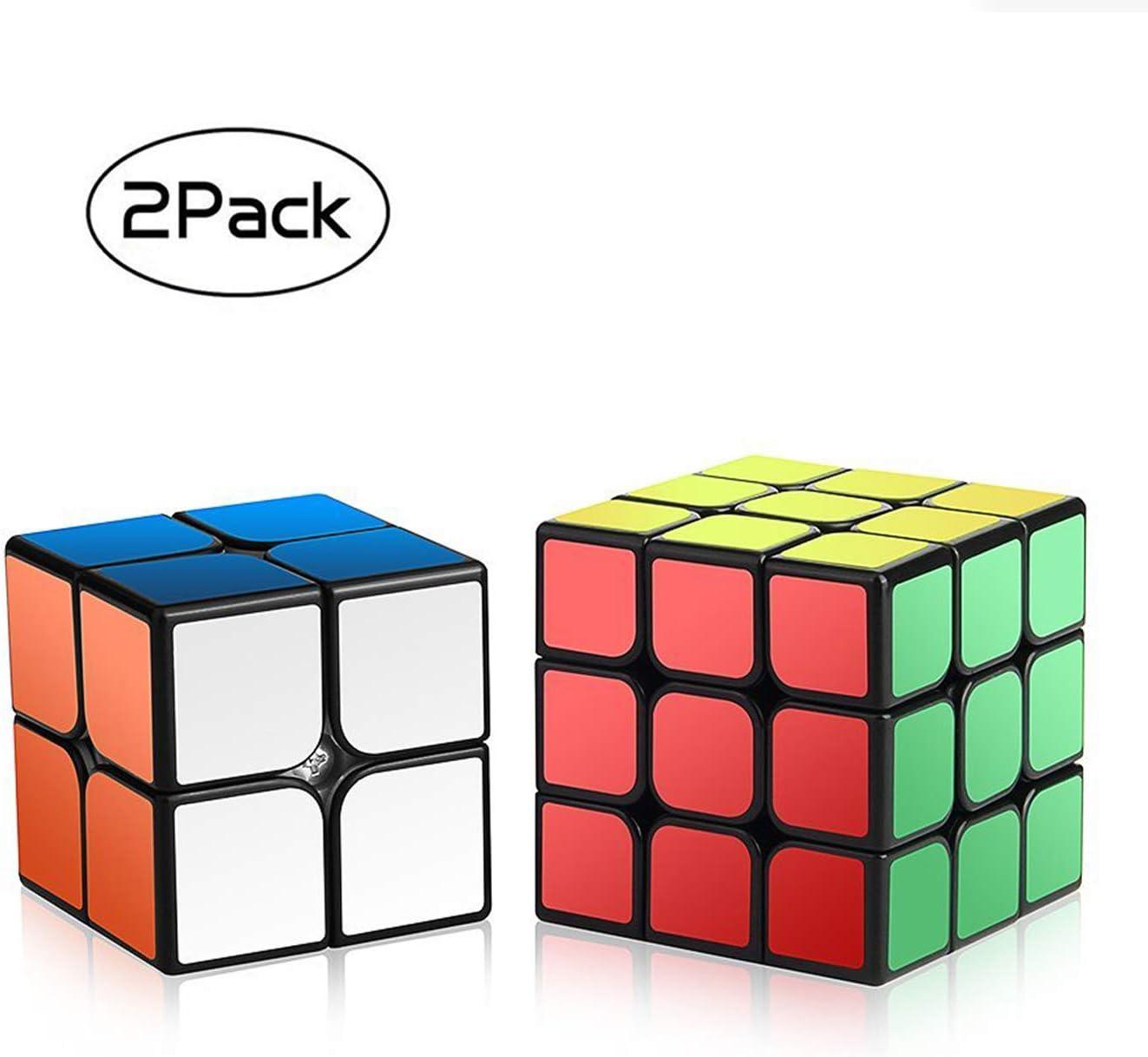 ROXENDA Speed Cube Set, Magic Cube Set of 2x2x2 3x3x3 Cube Smooth Puzzle Cube