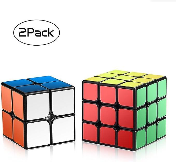ROXENDA Velocidad Paquete, Cubo Mágico Puzzle Pack-2x2x2 3x3x3, Super-Durable Vivos, Fácil de Tornear y Liso Jugar, Color 2x2&3x3 Set Speed Cube 23: Amazon.es: Juguetes y juegos