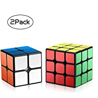 ROXENDA Velocidad Paquete, Cubo Mágico Puzzle Pack-2x2x2 3x3x3