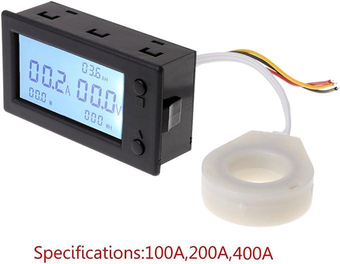 Qiman Dc 100a 200a 400a Digital Voltmeter Amperemeter Batterie Kapazität Coulometer Power Strom Watt Stunde Meter Mit Halle Sensor 200a Baumarkt