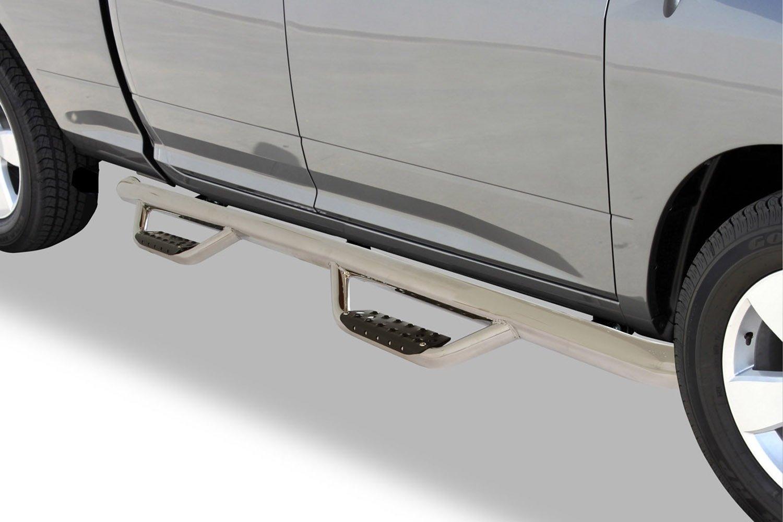 Crew Cab Length, Pair Go Rhino D24049T Black Textured Dominator D2 Sidestep for Chevrolet//GMC