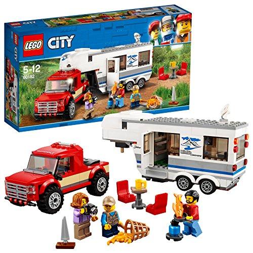 Van Trailer Kit - LEGO City Great Vehicles Pickup & Caravan Playset, Vehicle Construction Toys for Kids