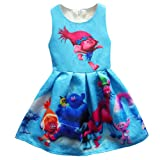 Amazon Price History for:ZHBNN Trolls Little Girls Printed Princess Dress Cartoon Party Dress