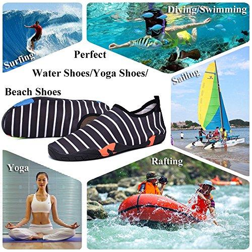 Yoga Beach GAXmi Shoes Men Swimming Surfing Quick Water Black Women Aqua Barefoot Shoes Drying for qqCpwFnZ