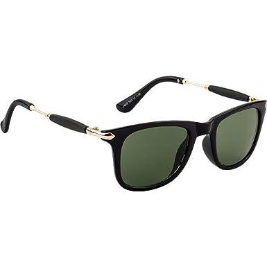 f0becb6024 Dervin Green Lens Black Frame Wayfarer Sunglasses for Men and Women ...