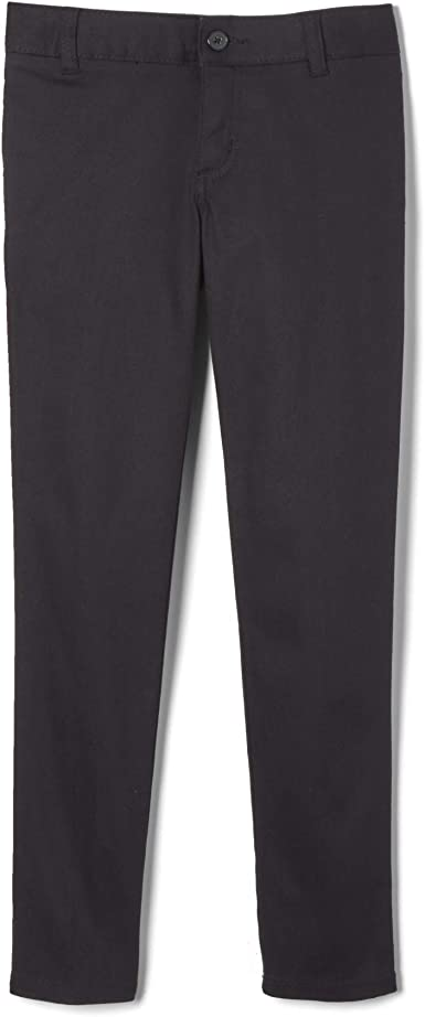 Navy 14 Plus French Toast Girls Size Stretch Contrast Elastic Waist Pull-on Pant