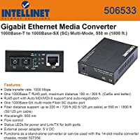 Intellinet 506533 GigaBit Ethernet Media Converter