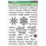 Penny Black 30-307 Holiday Snippets Transparent Decorative Rubber Stamp Set