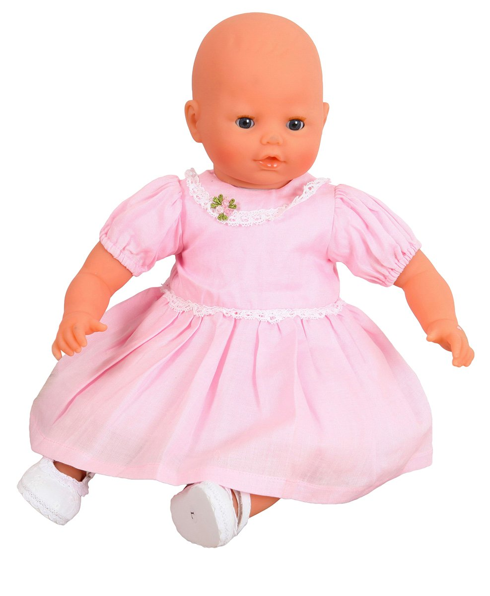 Pink Party Dress for medium dolls and bears 18-20ins[45-50 cm]DOLL NOT INCLUDED. To Fit Dolls such as Baby Annabell 46 cm , Corolle Les Classiques 46 cm FRILLY LILY