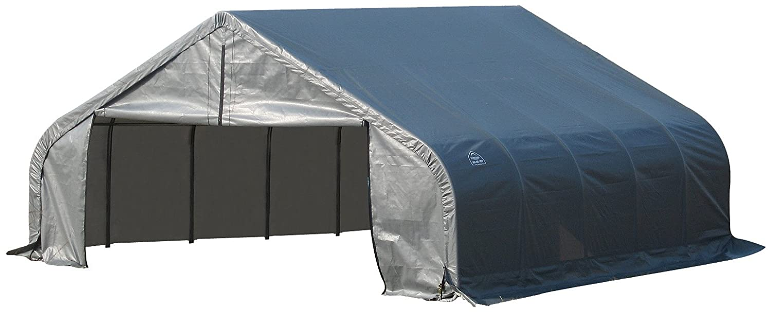 ShelterLogic ShelterCoat Peak Style Garage, Green, 15 x 20 x 12 ft. 95351