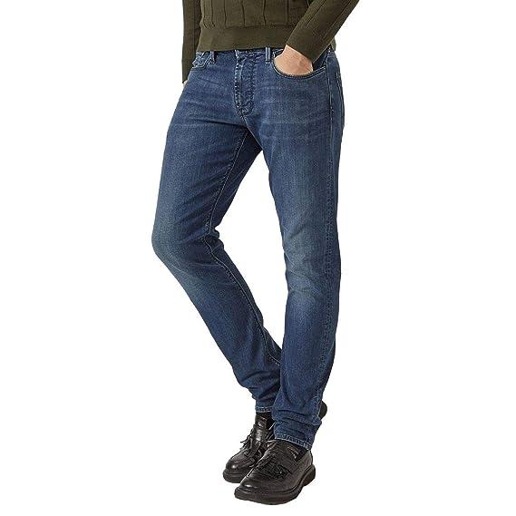 2eba572c7 Emporio Armani 6Z1J06 1D19Z Mens Slim Fit Denim: Amazon.co.uk: Clothing