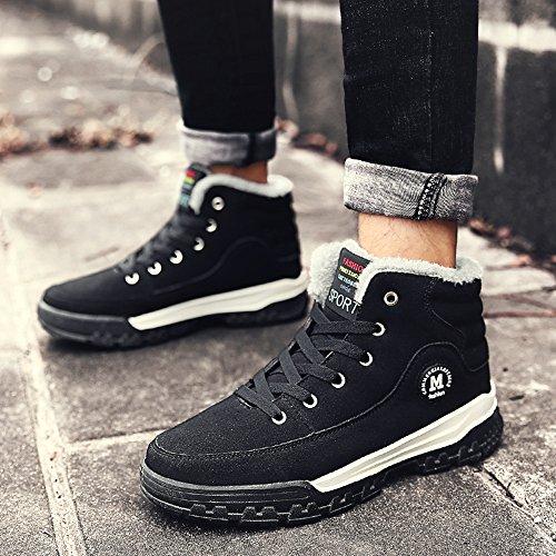 COOLCEPT Herren Winter Warm Stiefel High Top Schuhe Black