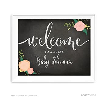 Amazon Andaz Press Personalized Baby Shower Party Signs