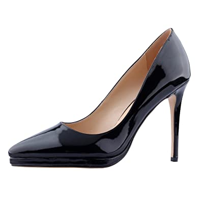 69de24c0b78ab Calaier Womens Cakill Sexy Luxury Designer Wedding Dress Elegant Office  High Heel Plus Size Pointed Toe 11.5CM Stiletto Slip-on Pumps Shoes
